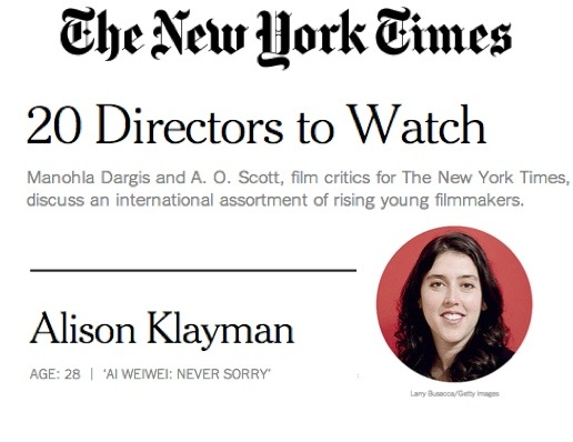 20 Film Directors To Watch {NYT}